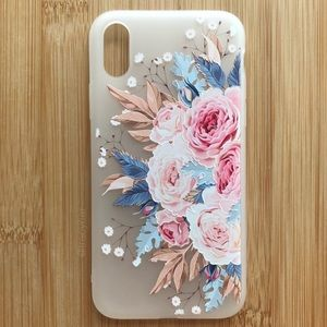 Accessories - NEW Iphone X Floral Pink Flowers Case
